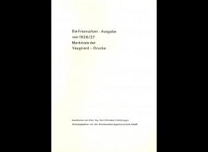 Kurt Schubert: SAAR - Die Freimarken-Ausgabe von 1926/27 (1971)