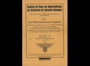 Alfred Metzner: Die Plattenbuchdruck-Ausgaben (Band II des Handbuches)