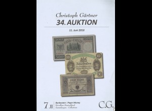 C.G..-Auktion, 11.6.2016: Banknoten / Paper money