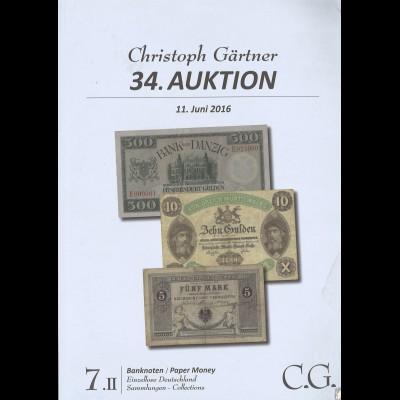 C.G..-Auktion, 11.6.2016: Banknoten / Paper money