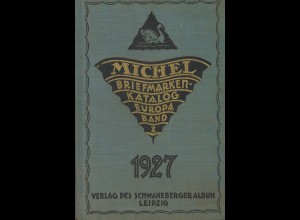 MICHEL Briefmarken-Katalog Europa (Band I) 1927