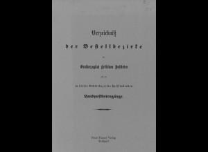 Verzeichnis der Bestellbezirke der Großherzoglichen Hessischen Poststellen ...