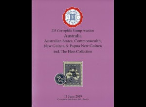 235. Corinphila-Auktion, 11.6.2019, AUSTRALIA / Australien