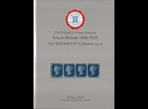 239. Corinphila-Auktion, 12.6.2019, Great Britain 1840–1910.