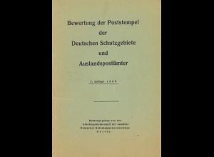 Bewertung der Poststempel der Dt. Schutzgebiete und Auslandspostämter (1960)