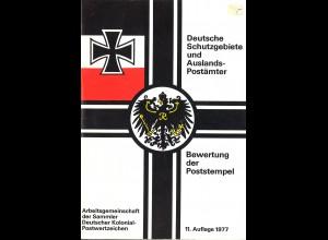 Bewertung der Poststempel der Dt. Schutzgebiete und Auslandspostämter (1977)