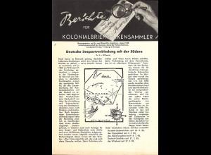 Berichte für Kolonialbriefmarken-Sammler (1948–1965)