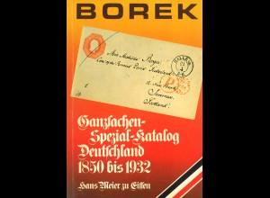 Hans Meier zu Eissen: Borek Ganzsachen-Spezial-Katalog Deutschland 1850–1932