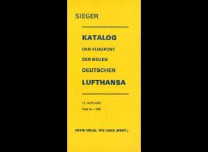 SIEGER: Katalog der Flugpost der neuen Deutschen Lufthansa (1976)