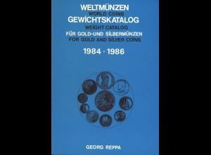 Georg Reppa: Weltmünzen Gewichtskatalog für Gold- und Silbermünzen (4 Ausgaben)
