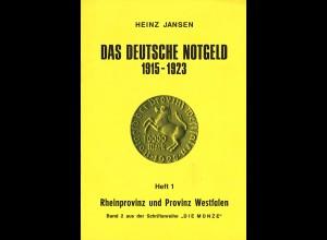 Heinz Jansen: Das Deutsche Notgeld 1915–1923 (7 Hefte)