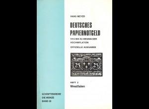 Hans Meyer: Deutsches Papiernotgeld. Heft 2: Westfalen (1971)