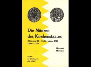 Norbert Herkner: Die Münzen des Kirchenstaates 1700–1740)