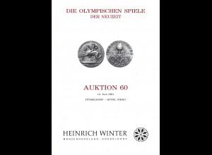 Heinrich Winter-Auktion 60+65: Die Olympischen Spiele der Neuzeit (1991/94)