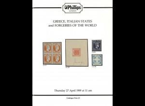 Phillips London: 2 Auktionskatalog zu Fälschungen / Forgeries of the World