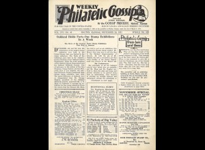 USA: Weekly Philatelic Gossip (Jg. 1931, ab Dec. – 21 May 19e32)