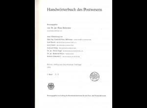 Dr. Hans Steinmetz: Handwörterbuch des Postwesens (1971)