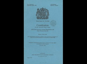 Universal Postal Union: Constitution of the UPU, Vienna 10 July 1964