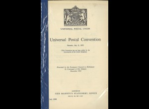 Universal Postal Union: Universal Postal Convention, Brussels 11 July 1952