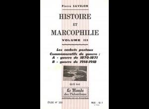 Pierre Savelon: Histoire et Marcophilie (vol. III)