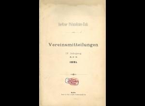 Berliner Philatelisten-Club: Vereinsmitteilungen, IV. Jg./1891