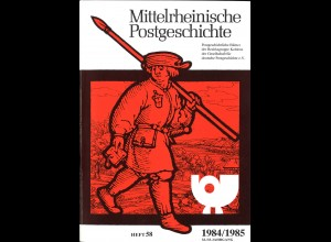 """Posten von 24 Ausgaben der """"Mittelrheiischen Postgeschichte"""" (1969–1993)"""