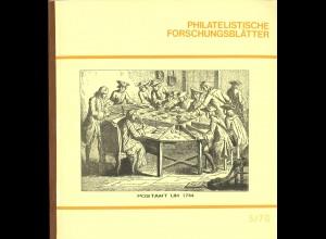 Österreich: Philatelistische Forschungsblätter (1/67 bis 20/80)