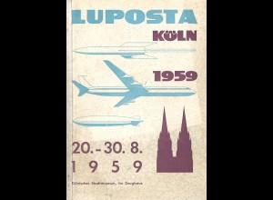 LUPOSTA Köln 20.-30.8.1959 - Ausstellungskatalog / Auktionskatalog