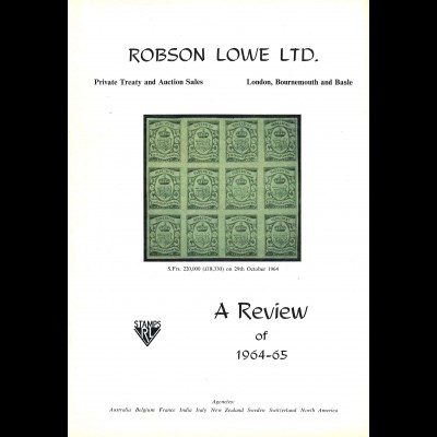 Robson Lowe Ltd: A Review (Private Treaty and Auction Sales) 1938–1965 (27!)