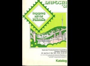1981: NAPOSTA 81 Stuttgart, Nationale Ausstellung, Info 2 + Katalog