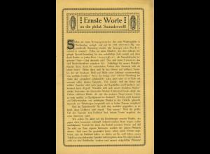 Universal-Weltbund - Beitrittsformular (1920)