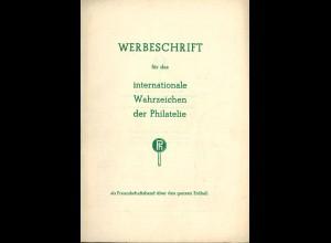 A. Hoffmann: Werbeschrift für das internationale Wahrzeichen der Philatelie ...