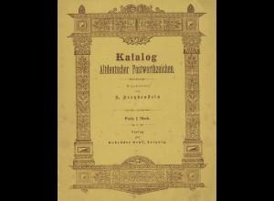S. Freudenstein: Katalog Altdeutscher Postwerthzeichen (1891)