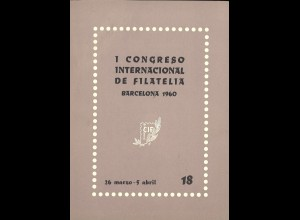 1 Congreso Internacional de Filatelia Barcelona 1960