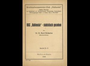 "Dr. Dr. Kurz Schulze: BSC ""Hallensia"" - statistisch gesehen (1949)"