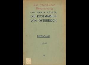 Edwin Müller: 3 Österreich-Kataloge (1927–1936)