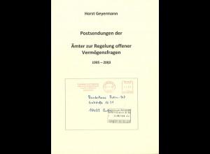 Horst Geyermann: Postsendungen der Ämter zur Regelung offener Vermögensfragen