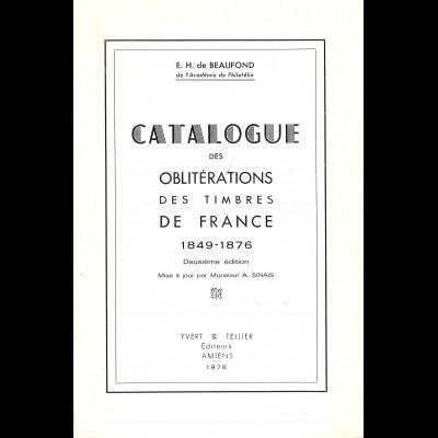 E. H. de Beaufond: Catalogue des Oblitérations des Timbres de France 1849-1876