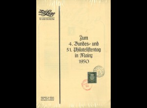 BDPh: 4. Bundes- und 51. Deutscher Philatelistentag in Mainz 1950