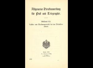 Allgemeine Dienstanweisung für Post und Telegraphie (Berlin 1908)