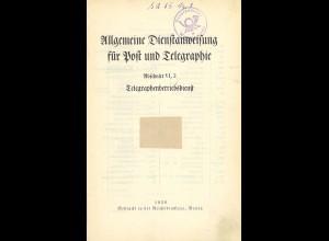 Allgemeine Dienstanweisung für Post und Telegraphie (Berlin 1929)