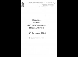 FIP: Minutes of the 69th FIP-Congress Malaga/Spain 13.10.2006