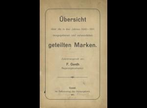 F. Genth: Übersicht über die in den Jahren 1840–1911 ... geteilten Marken (1911)