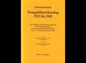 Rainer E. Lütgens: Deutsches Reich. Postgebührenkatalog 1923 bis 1945 (1986)