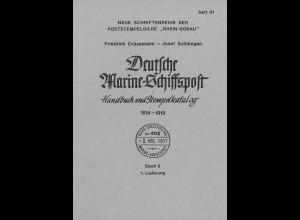 Crüsemann/Schlimgen: Deutsche Marine-Schiffspost 1914–1919 (Band II)
