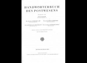 Reglement vom 1.9.1852 zum Gesetz über das Postwesen ... (Reprint 1992)