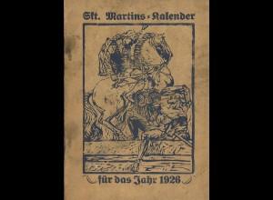 Sankt Martins-Kalender für die Jahre 1926, 1936, 1940, 1942 und 1944
