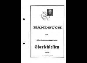 Handbuch vom Abstimmungsgebiet Oberschlesien 1920/22 (1.–5. Lieferung)