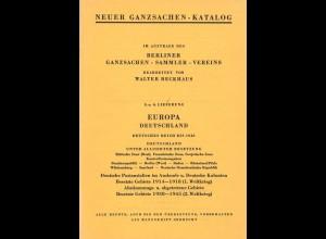 Walter Beckhaus: Neuer Ganzsachen-Katalog Deutschland (5.+6.. Lfg.) <1959>