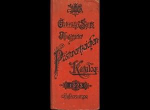 """Gebrüder Senfs illustrierter Postwertzeichen-Katalog """"Außwereuropa"""" 1923"""